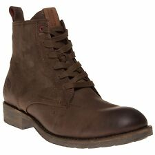 New Mens Tommy Hilfiger Brown Darren Leather Boots Lace Up