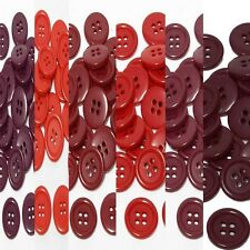 "9mm 3/8"" SZ 14 Plastic 4 Hole Coat Suit Shirt RED 100-1000 buttons Discount"