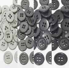 "23mm 7/8"" SZ 36 Plastic Coat Buttons Gray 10-90 buttons Discount Retail"