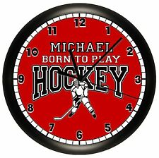HOCKEY WALL CLOCK PERSONALIZED GIFT ICE ROLLER SPORTS TEAM DERBY PUCK