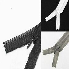 "Wholesale 15-1000 Zippers 22""/56cm Black White Close End Invisible"