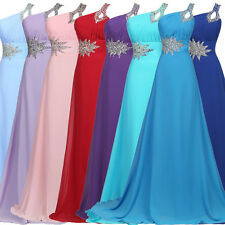Stock Long Wedding Party Dress Bridesmaid Gown Evening Prom Ball Formal Dresses
