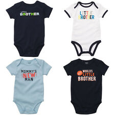 NWT Carters Baby Boys Graphic Slogan Bodysuit Navy Blue 12 18 24 Month One Piece