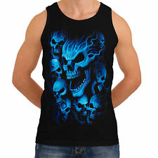 Skeleton Ghost Skull New Tank Mens Women T-Shirt Top Gothic Reaper  *th219