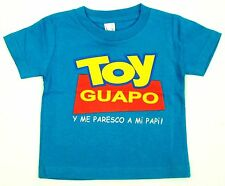 TOY GUAPO Baby Infant T-shirt Funny Toy Story Parody Tee 6M,12M,18M,24M Blue New