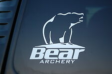 Bear Archery Vinyl Sticker Decal (V181) Bow Hunting Hunt Hunter Truck Car Window