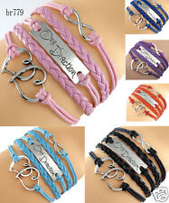 One Direction Infinity Hearts Charm European Friendship Multilayer Bracelet Gift
