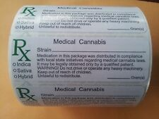 RX Medical Cannabis Strain  & GREEN CROSS LABELS 420 Ganja Weed Jar STICKERS USA