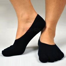 3Pair Mens Womens Antibacterial Soft Five Finger Toe Cotton Low Cut Boat Socks