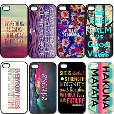 Good Vibes And Bible Quote For iPhone 4/4S 5/5S 5C Hard Plastic Case Back Cover