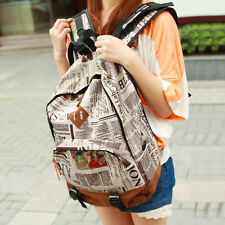 2014School Girl Canvas Backpack Travel Hiking Camping Casual College Sports Bag