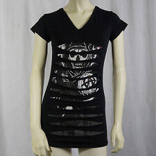Authentic SONS OF ANARCHY SOA Layered Laser Cut Juniors Tunic T-Shirt S-XXL NEW