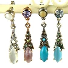 Amaro P265 Post Earrings Dangle Swarovski Crystals on Rose Gold or Silver