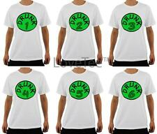 DRUNK 1 2 3 4 5 6 T-SHIRT IRISH SAINT PATRICKS DAY PUB BAR CRAWL MENS STAG NIGHT
