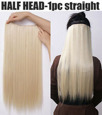 """Fashion 24"""" 26'' Women 5 Clips in on One Piece Hair Extensions real synthetic"""