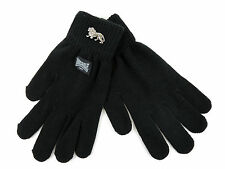 Lonsdale Keighley Knitted Black Gloves Winter Handschuhe Gantes Guantes S/M L/XL