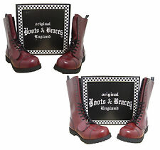 Limited Cherry Red Boots & Braces Rangers 10 or 14 Hole Steel Toe Punk Skinhead