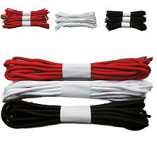Pack of 3 Pairs Strong Long Round Boot Shoe Laces Red White Black Punk Skinhead