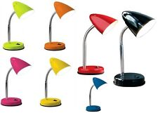 TABLE LAMP FLEXI NECK DESK STUDY OFFICE BED SIDE NIGHT LIGHT FLEXIBLE LAMPS NEW