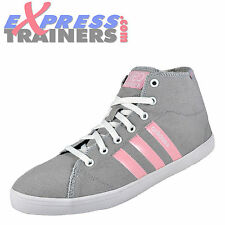 Adidas Womens Girls Vlneo Bball Mid Casual Trainers Light Grey * AUTHENTIC *