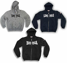 "Lonsdale ""Nottingham"" Zip Jacket Hoodie Sweatshirt Black Grey Blue XS-3XL"