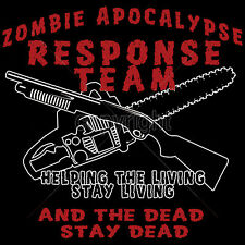 Zombie Apocalypse T-Shirt Walking Dead T-Shirts Zombie T-Shirts Mens Size to 3XL
