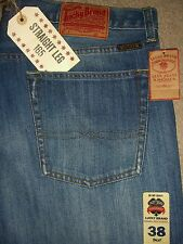 LUCKY BRAND 165 Straight Leg Mid Rise Relaxed Mens Jean Sizes 30 36 38 New $88
