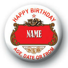 Personalised Stella Style Birthday Pin Badge / Magnet - 58mm