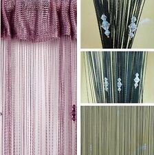 String Curtain Tassels With 3 Beads Door Window Panel Room Divider Decorative