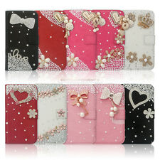 Flip Leather Bling Flower Wallet Case For iphone 4S 5S 5G 5C S3 S4 NOTE2 NOTE3