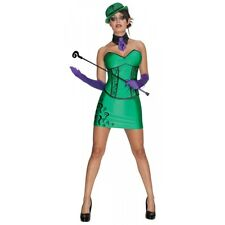 The Riddler Costume Adult Sexy Super Villain Womens Halloween Fancy Dress
