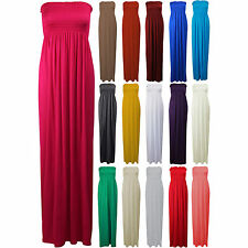 Plus Big Size Boobtube Sheering Gather Maxi Dress Sexy Bandeau Dresses 18 20 22