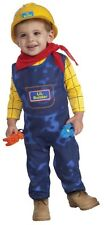Boys Construction Worker Costume Builder Outfit Toddler Childs Hat Suit Kids NEW