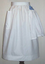 Med/Large No Nonsense Half Apron w/ KITCHEN TOWEL white + solid colors available