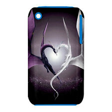 Love Dragons Design -Silicone & Hard Case for iPhone 3/3GS(UU4629)