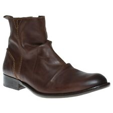 New Mens Fly London Brown Wex Leather Boots Modern Gent Zip