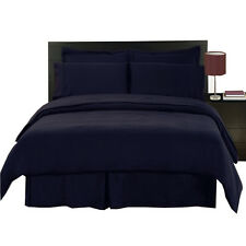 Solid Navy 8-Piece Wrinkle Free MicroFiber  Bed in a Bag