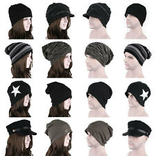 Winter Women Men Slouchy Baggy Knit Crochet Beanie Oversize Skull Ski Hat Cap