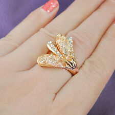 18k rose gold plated net zirconium half flower fashion ring for lady R133 4size