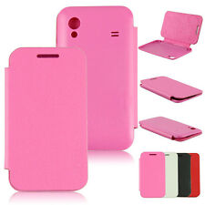 Hot Flip PU Leather With Back Battery Cover Case For Samsung Galaxy Ace S5830