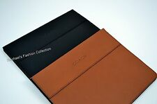NWT Coach iPad Case Tablet Cover Stand Heritage Web Leather F61309 MSRP $198+Tax