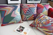 Color Abstract Cotton&Linen Graffiti Print Sofa bed cushion case/pillow cover