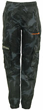 Junior Boys LOCATION Cargo Camouflage Tracksuit Trousers Pants - WA5