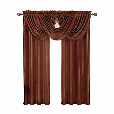 Rust Soho Rod Pocket Window Treatment, Single Panel OR Single Waterfall Valance