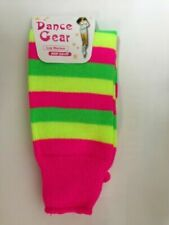 LUXURIOUS GIRLS TEENS 80S PLAIN RIBBED NEON LEGWARMERS LEG WARMERS FANCY DRESS