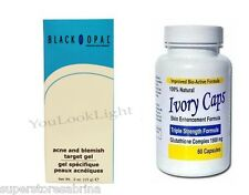 BLACK OPAL BLEMISH TARGET GEL 15G + Ivory Caps Skin Whitening 1500mg Pills
