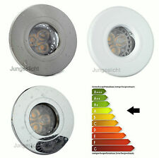 1-20er Set Encastrage de Douche Aqua IP44 GU10 230V 5W = 50W Power LED Classe A