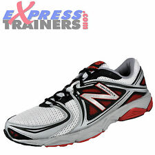 New Balance Mens M580 Running Shoes Trainers White Red * AUTHENTIC *