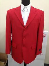 Men's Basic 3 Button Suit Red come w/ jacket and pants by Milaono Moda #802P