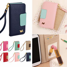 Magnetic Flip PU Wallet Cards Holder Case Cover For Various Phone Apple Samsung